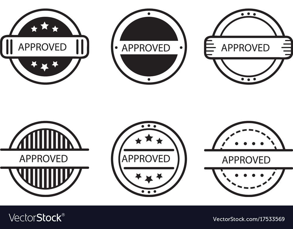 Approve designs vector image