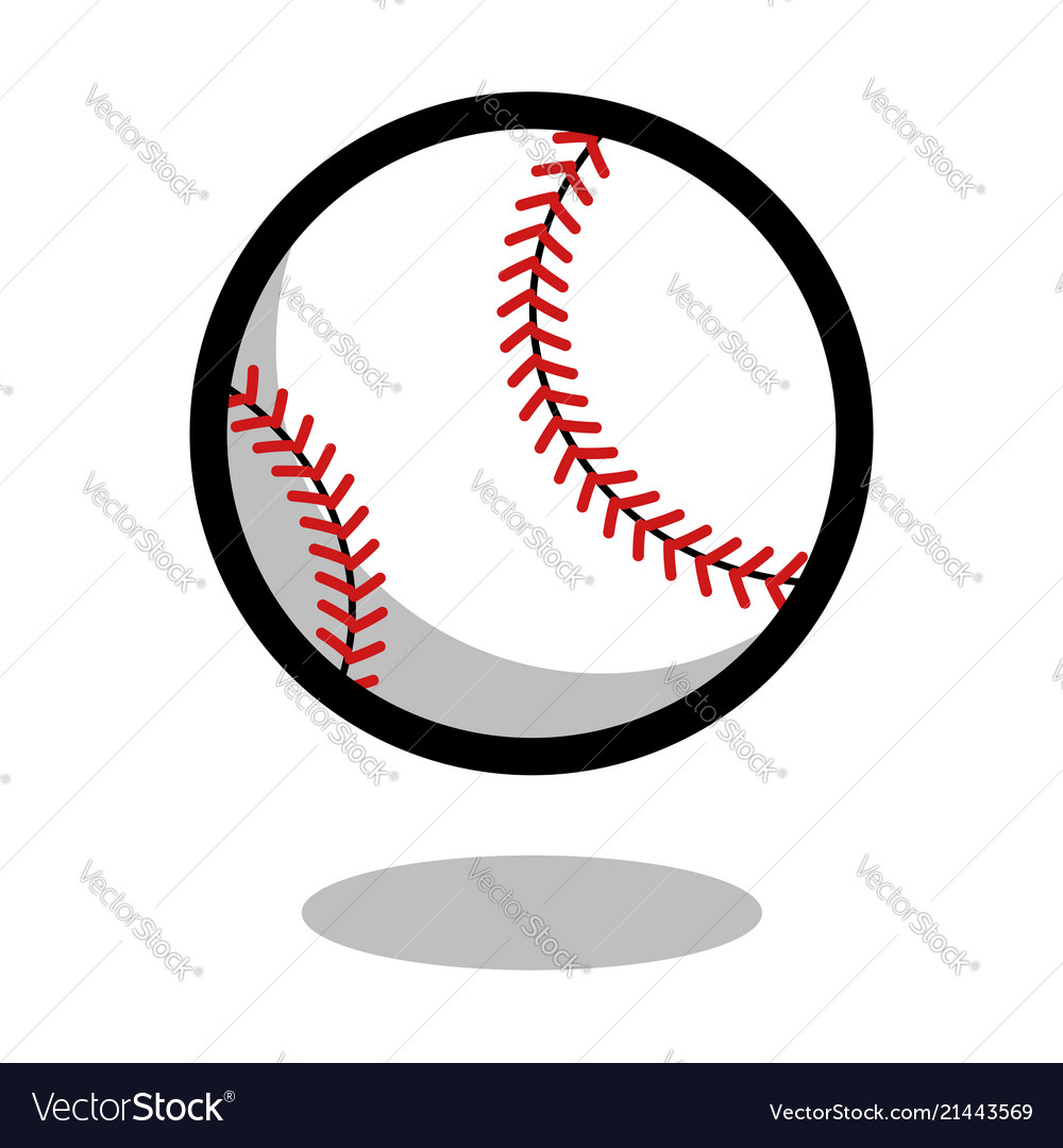 Baseball softball sport ball logo line 3d icon