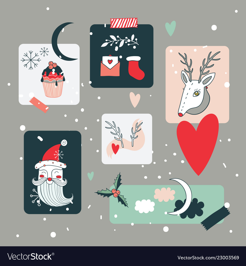 Christmas and new year holidays design elements