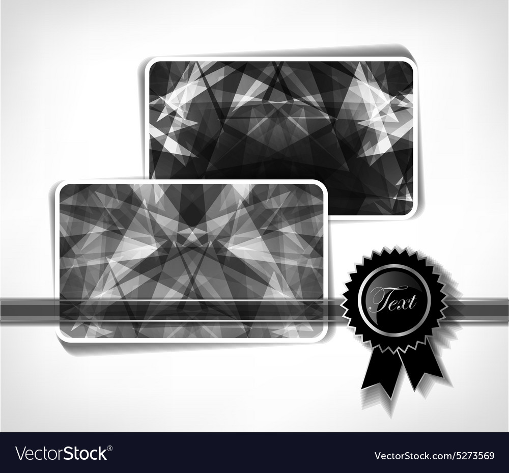 Diamond business cards royalty free vector image diamond business cards vector image colourmoves