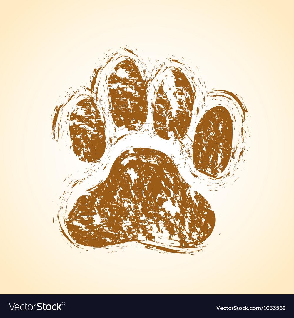 Dog paw vector image
