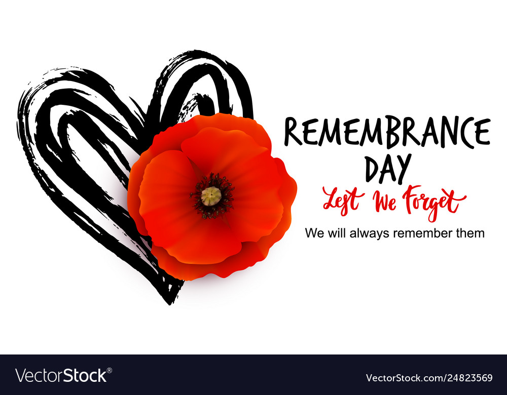 Remembrance day poster design with
