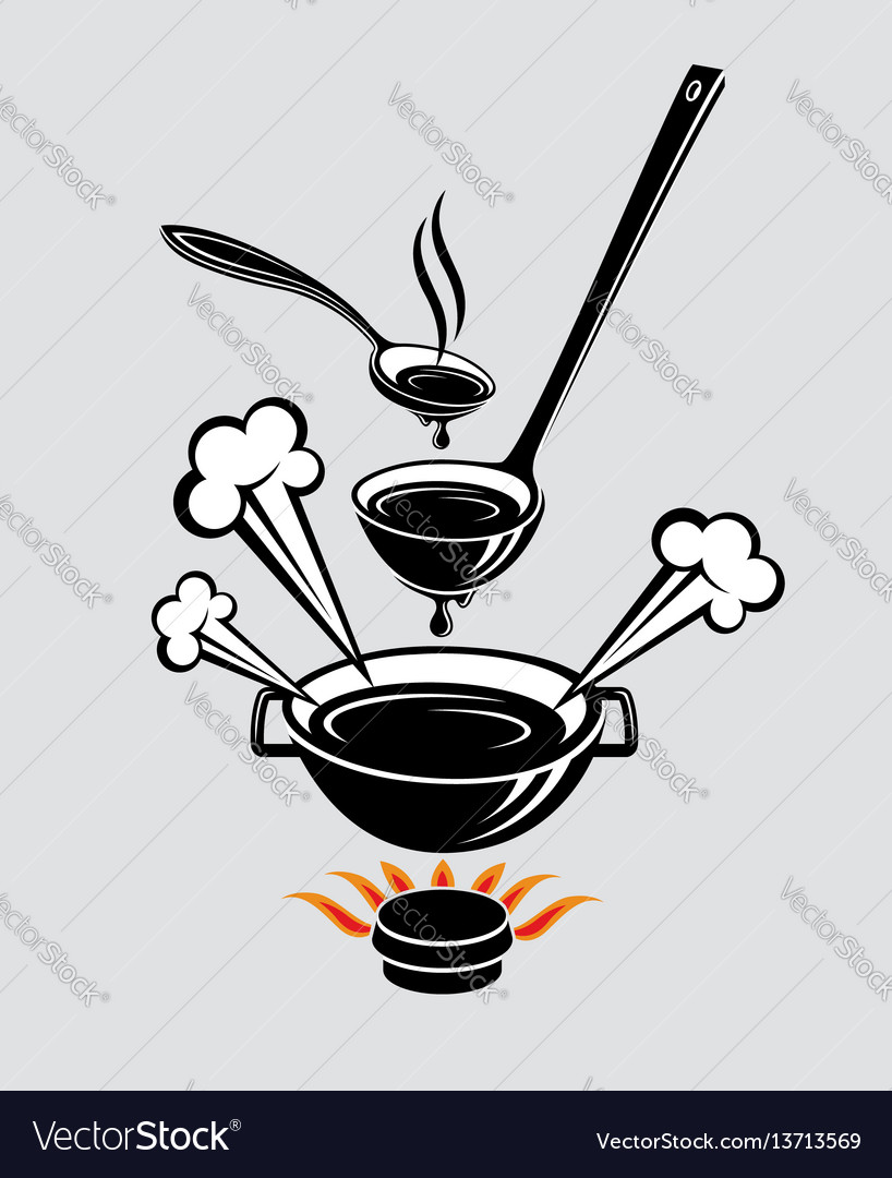 Spoon soup ladle and dish