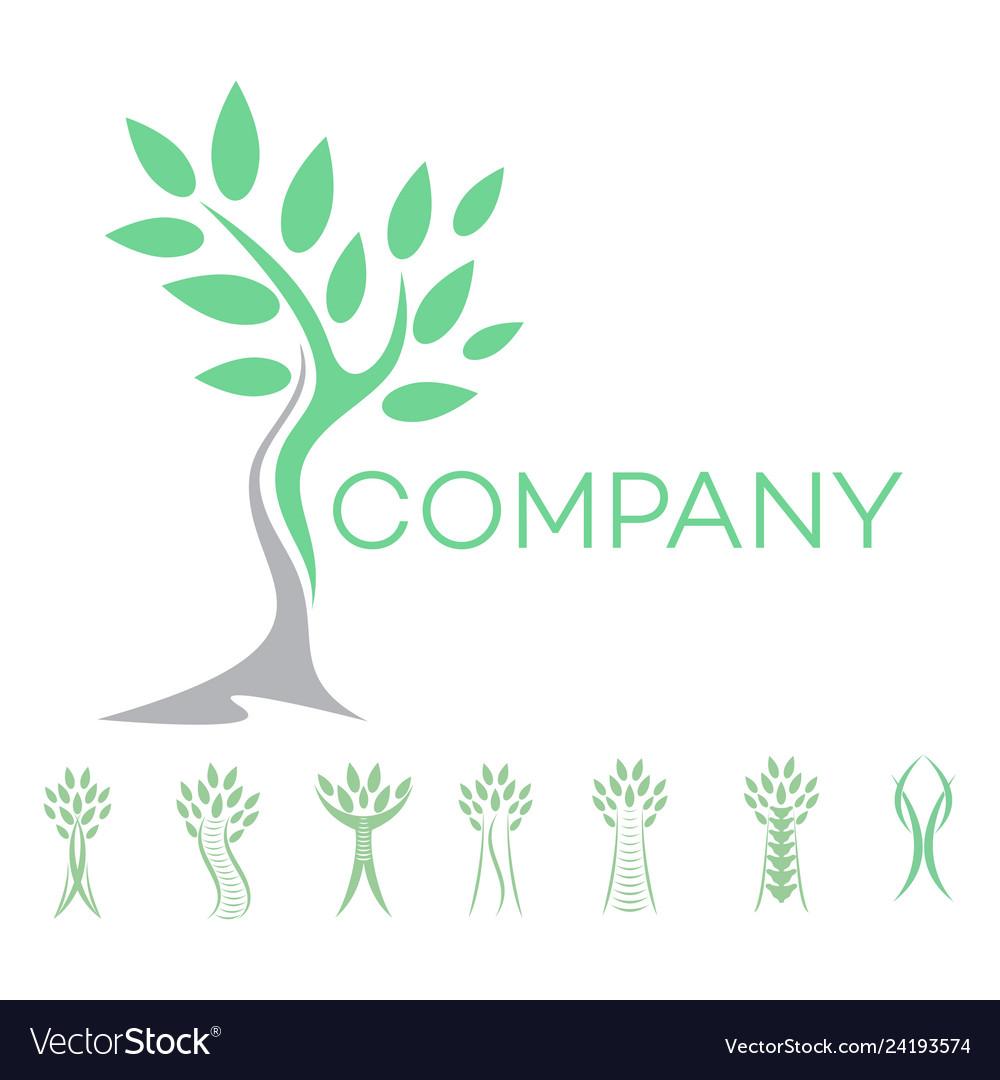 Abstract man and tree logo