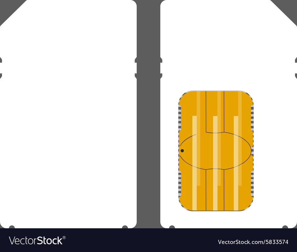 Mini sim card mock up