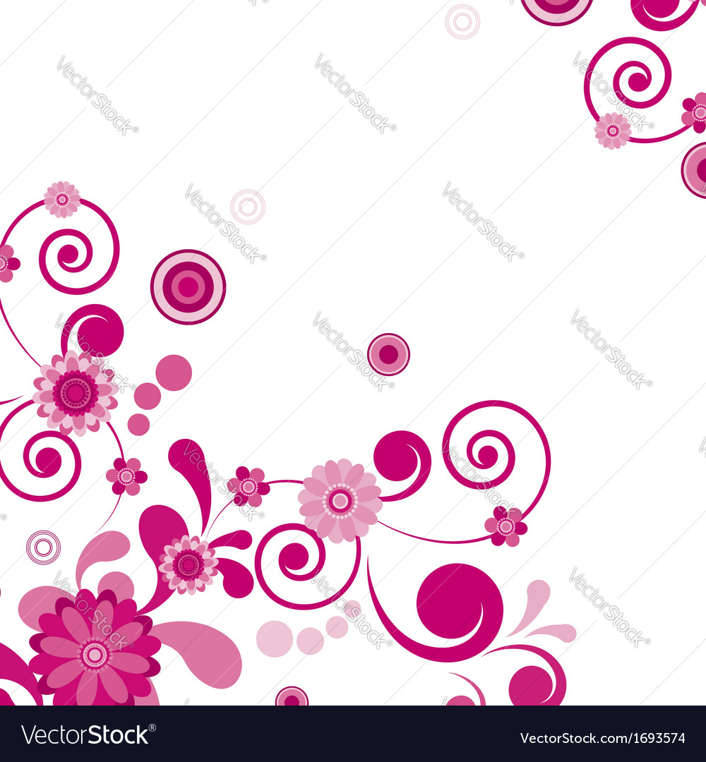 Pink Flower Floral Background To See Similar Vector Image