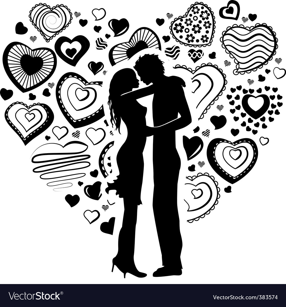 Young happy couple vector image