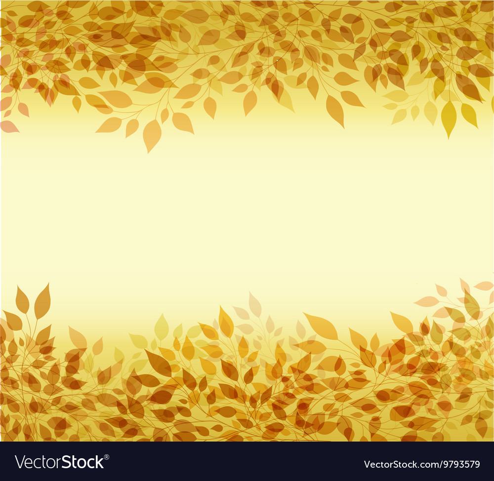 Autumn background branches and leaves