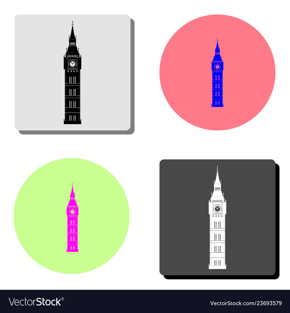 Big ben flat icon