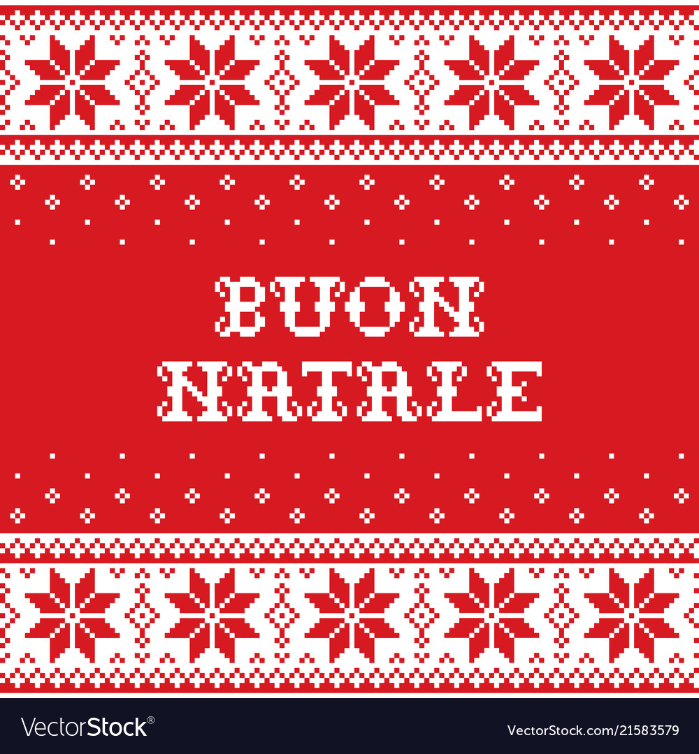 Boun natale - merry christmas in