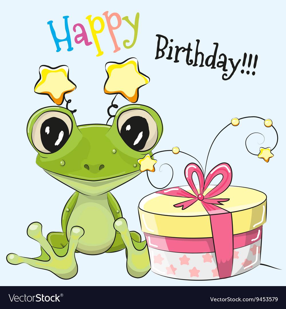 Картинки для, лягушонок открытка день рождения