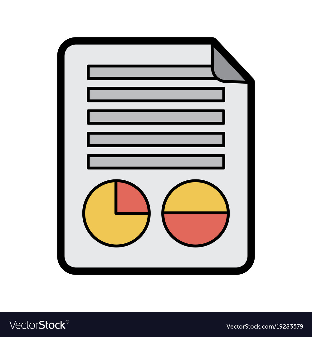 graph chart on paper icon image royalty free vector image