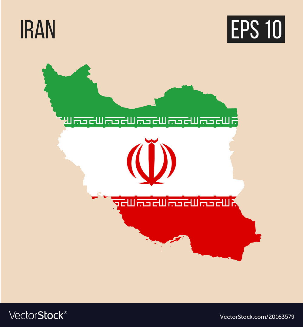 Iran map border with flag eps10 royalty free vector image iran map border with flag eps10 vector image gumiabroncs Image collections