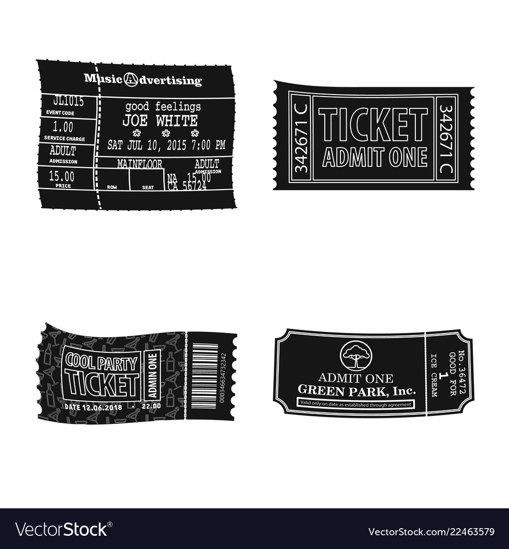 Isolated object of ticket and admission icon set