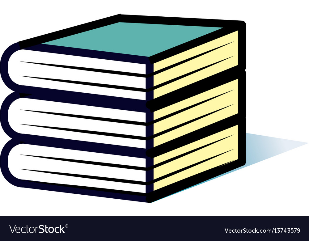 Minimalistic icon stack of thick books