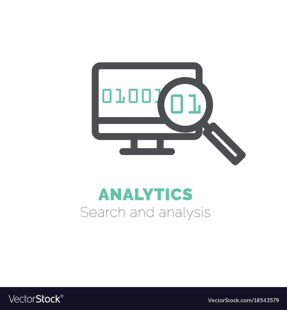 Simple icon of analytics flat bicolor line