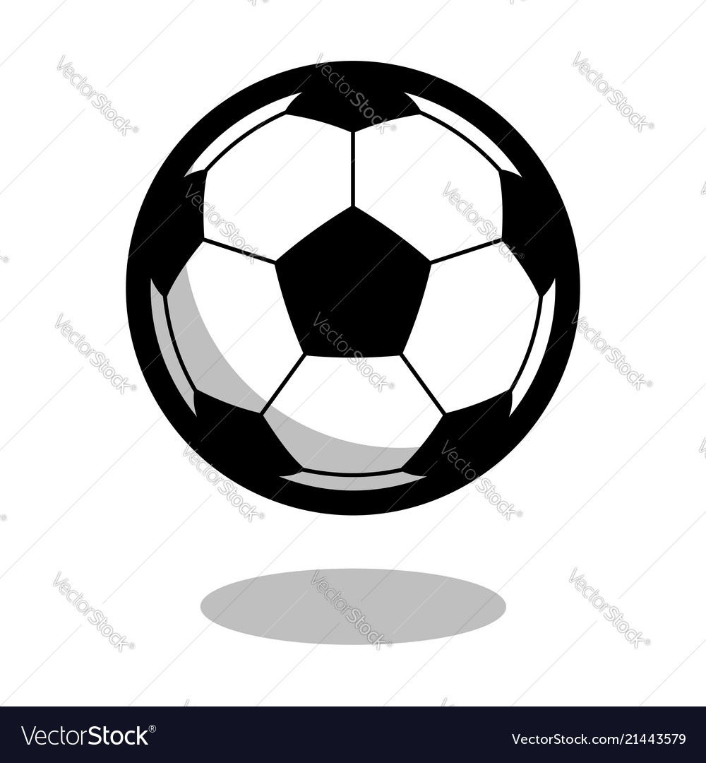 Soccer football sport ball logo line 3d icon