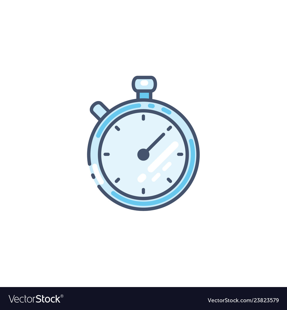 Stopwatch icon timer symbol isolated on