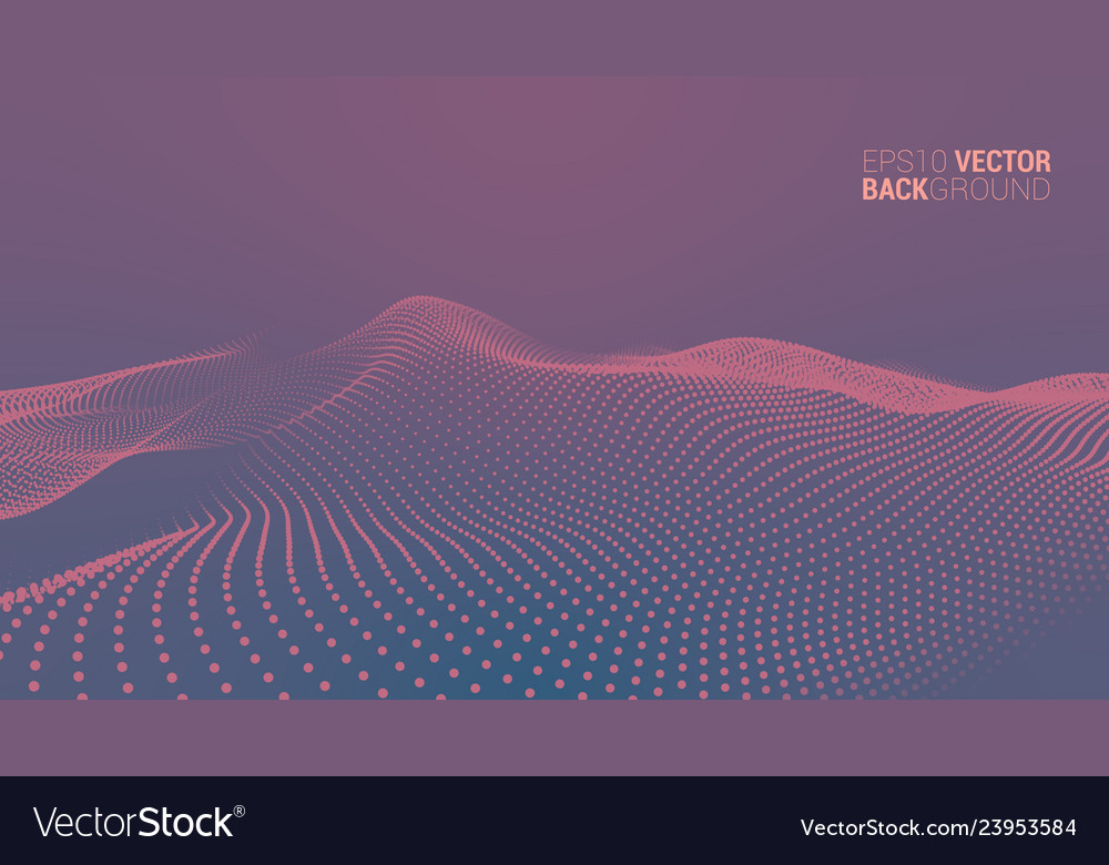 Abstract futuristic digital landscape