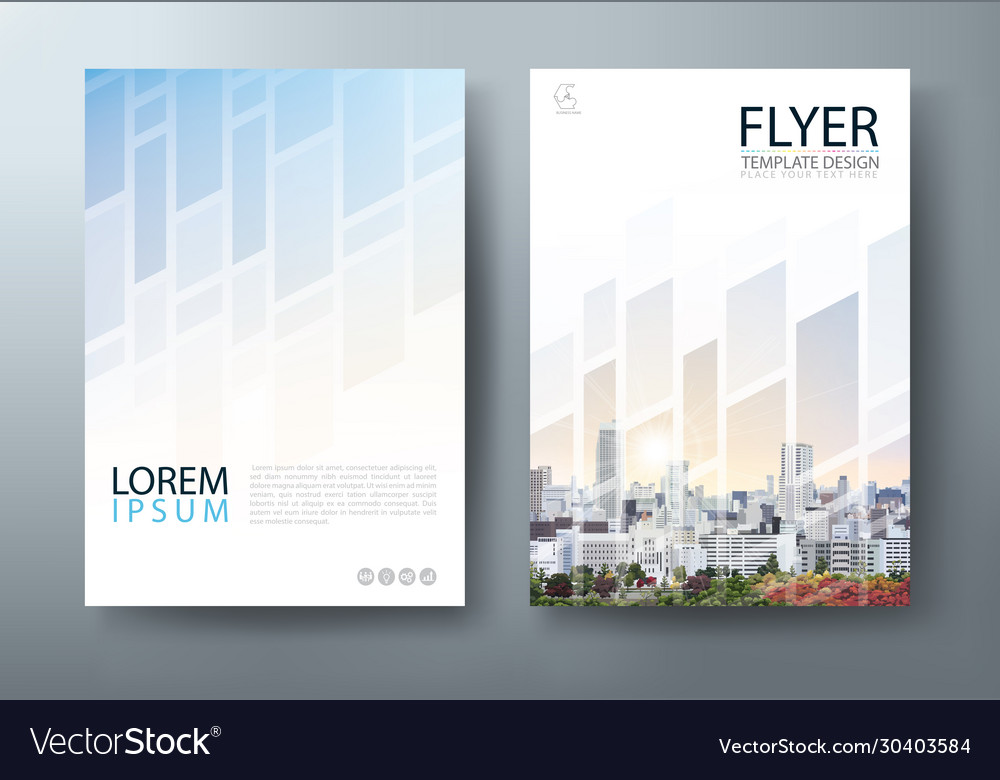 Annual report flyer cover template