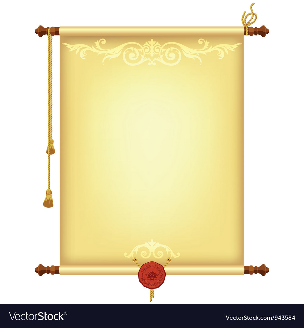 Background with old parchment vector image