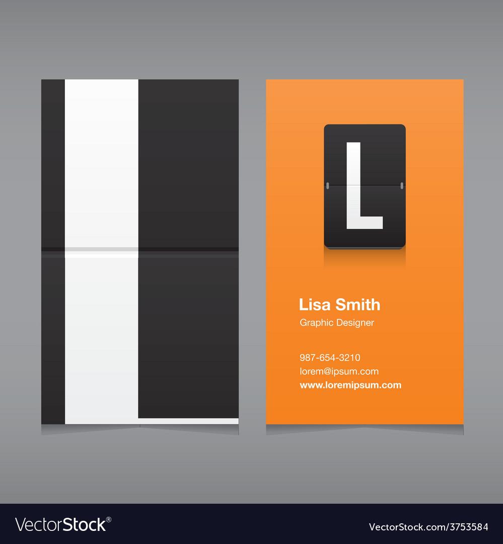 Business card letter L