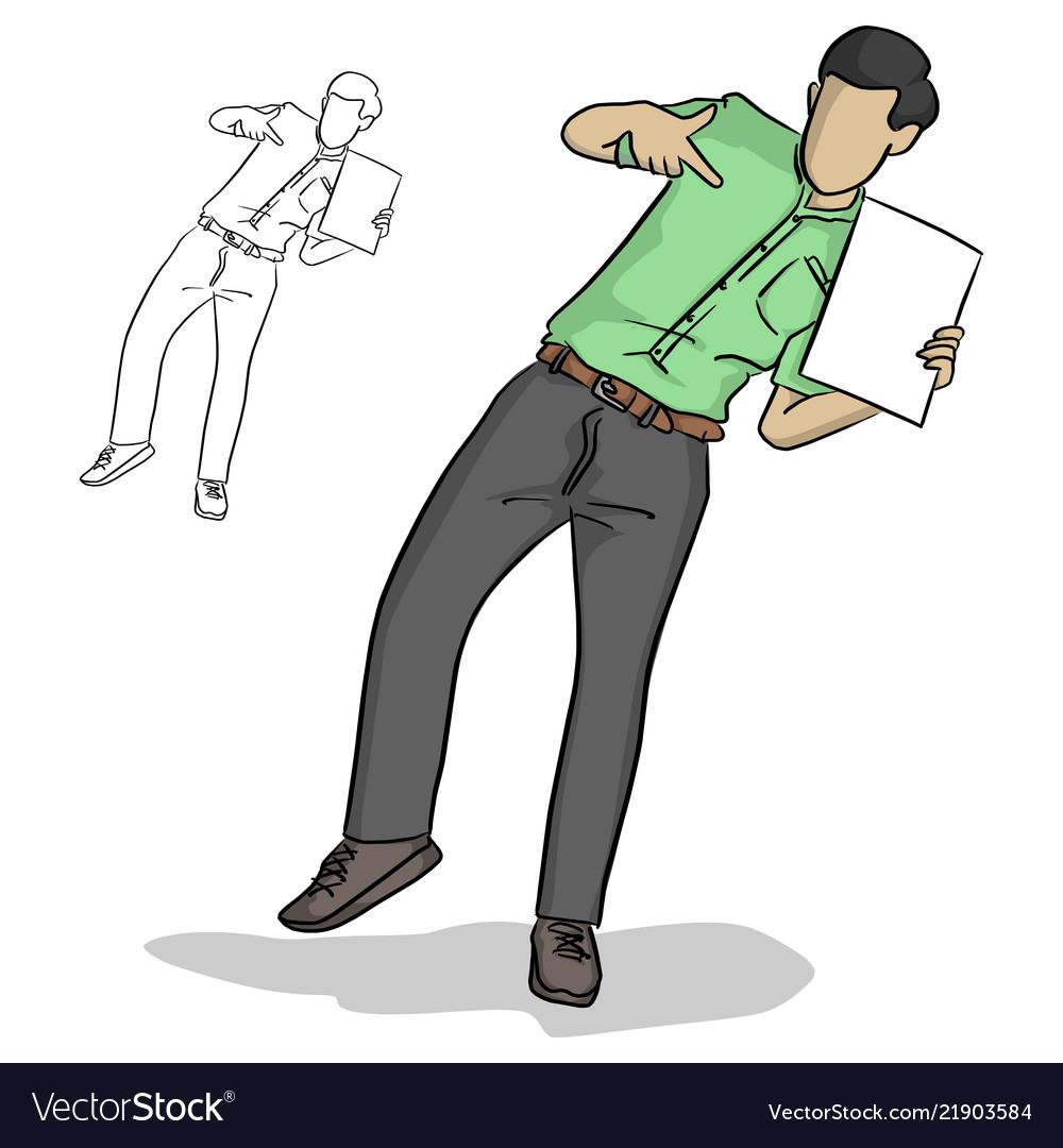 Businessman pointing blank sheet