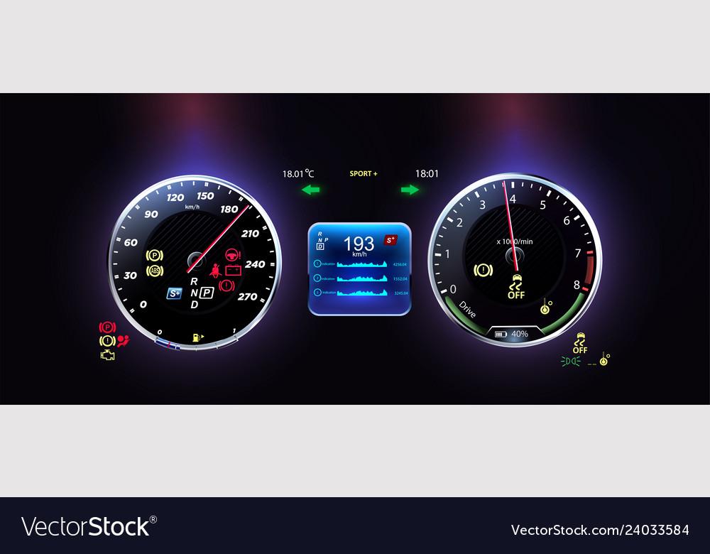 Car dashboard modern automobile control