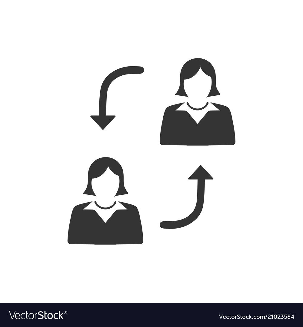 Employee replacement icon vector image