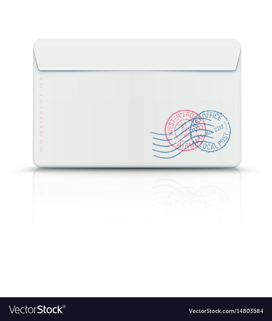 Envelope with post stamps vector image