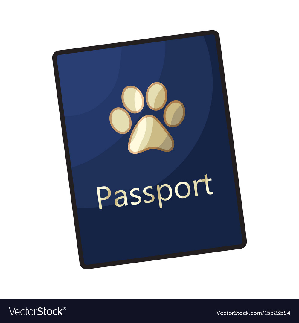 Pet passport formal document certificate for dog vector image