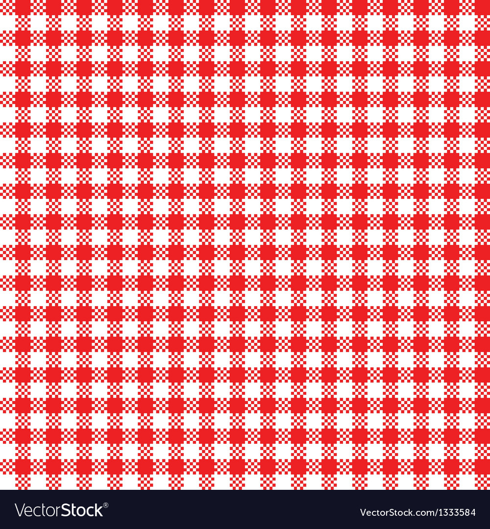 Red White Tablecloth Pattern Vector Image