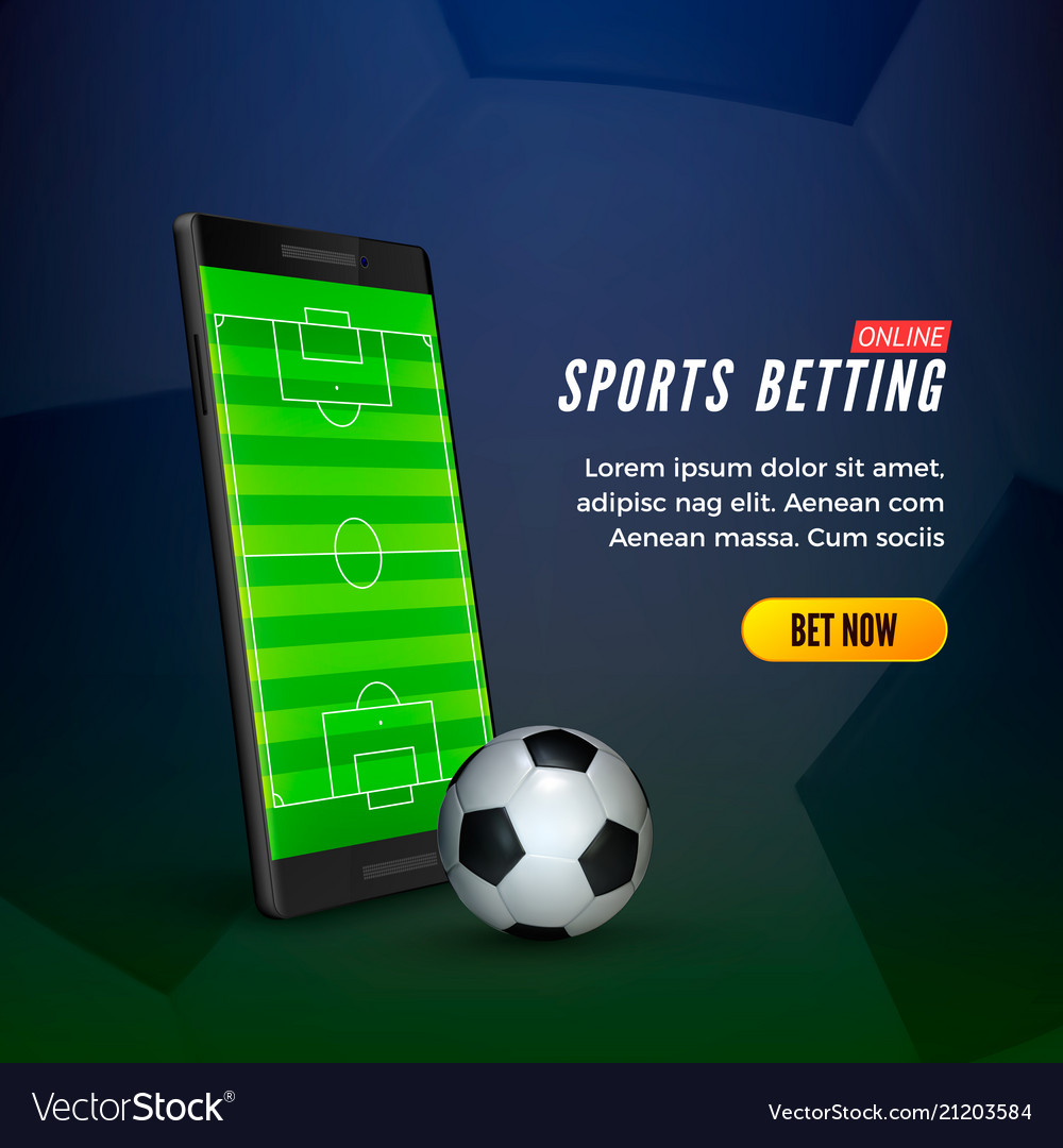 Sports betting online web banner concept mobile