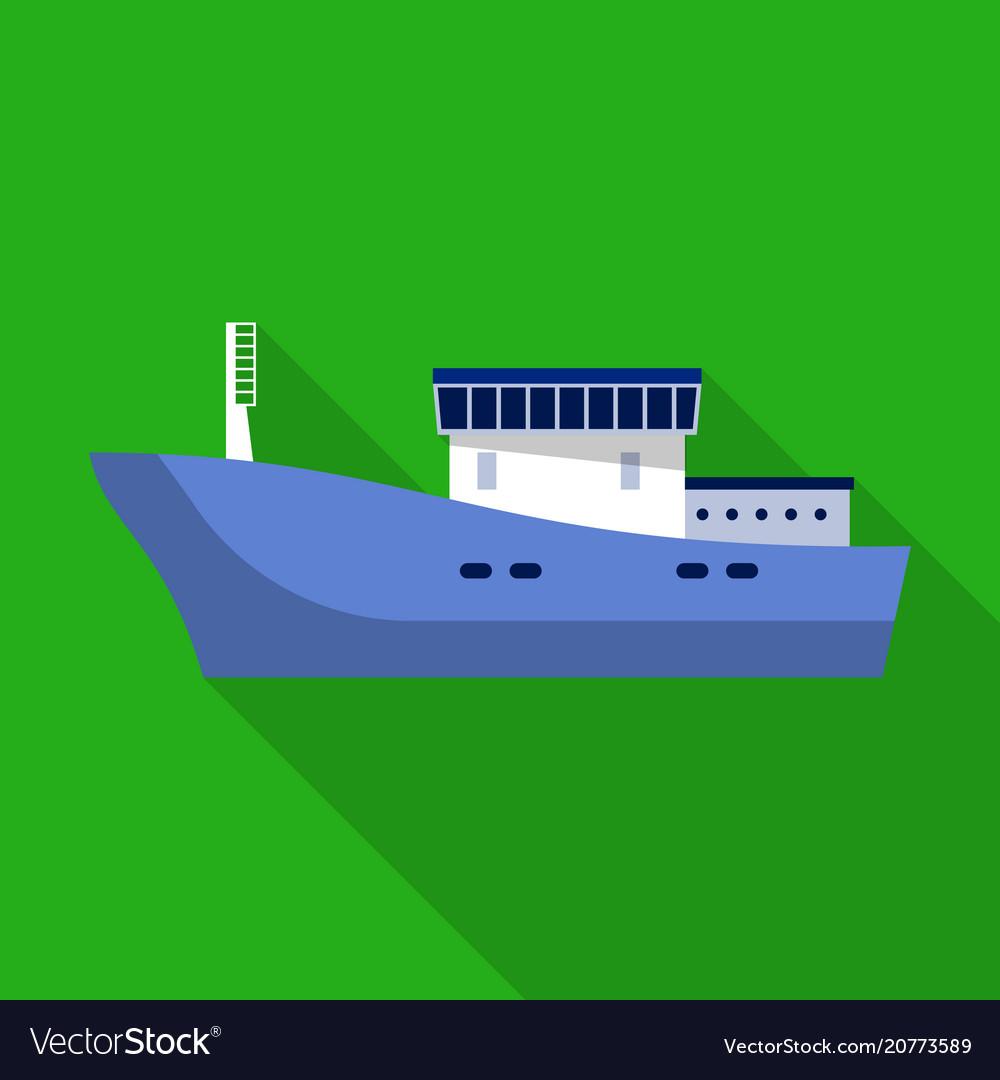 Cargo ship icon flat style