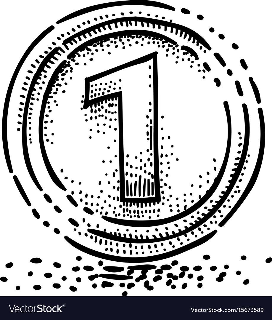Cartoon image of coin icon money symbol