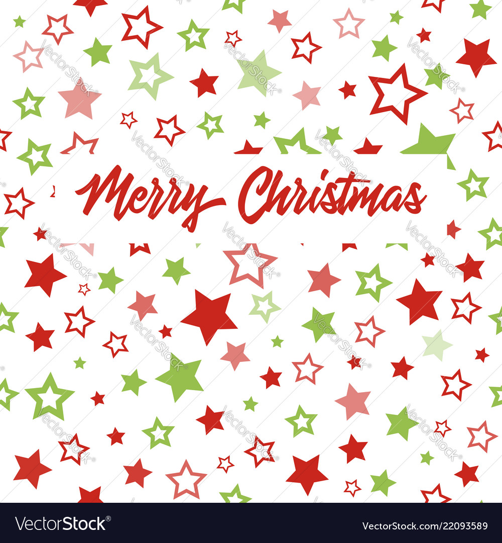 Christmas greeting card with stars pattern