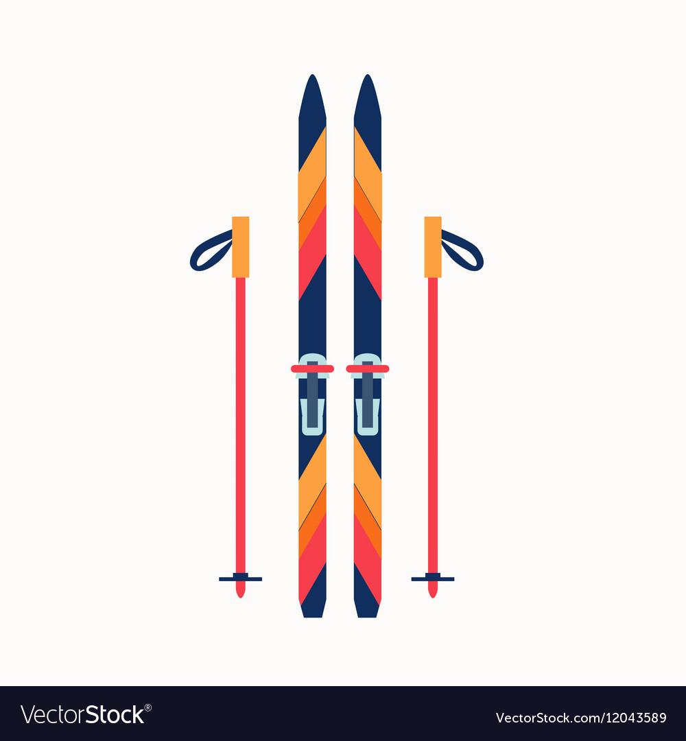 Colorfu sport winter ski