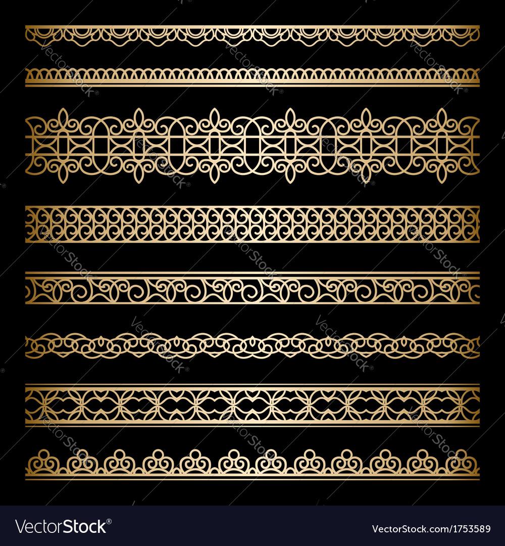 Gold borders set