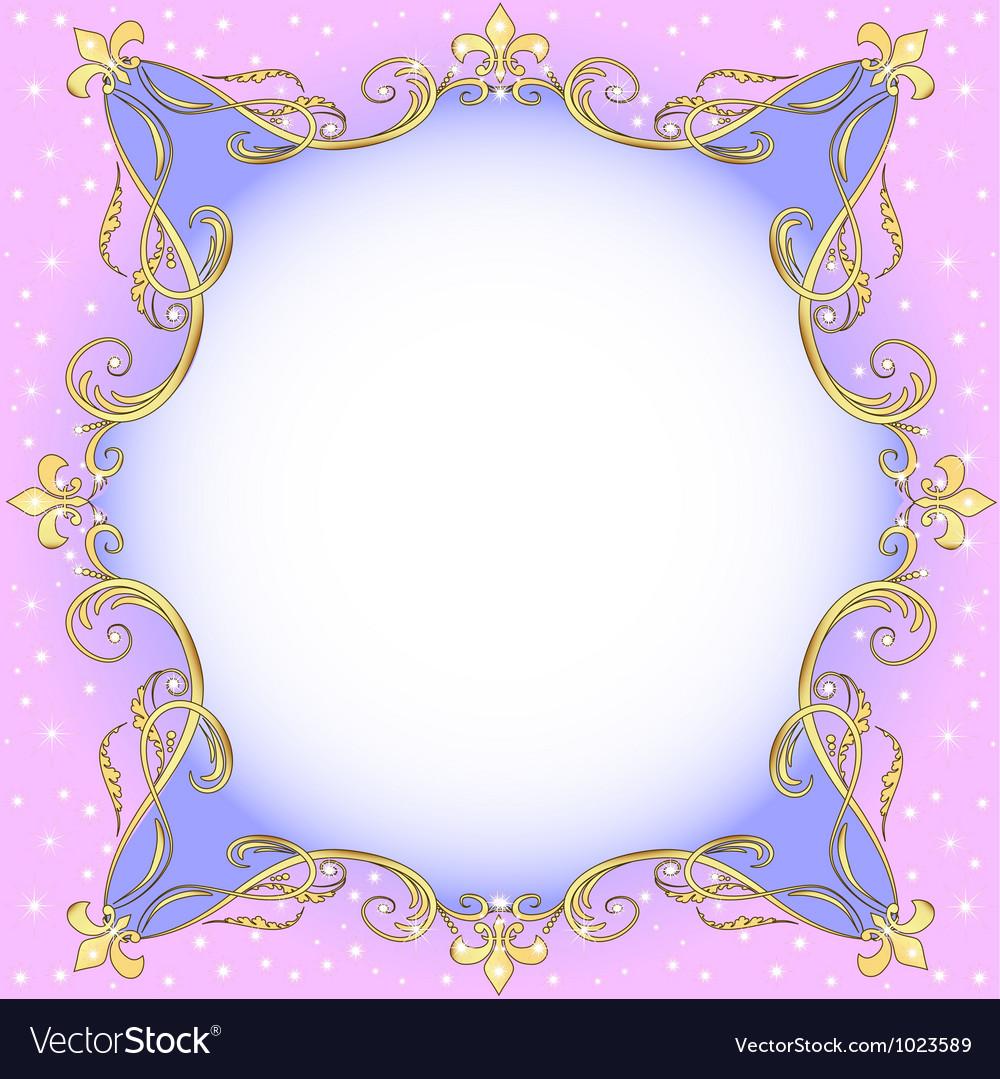 Golden Ornamental Frame
