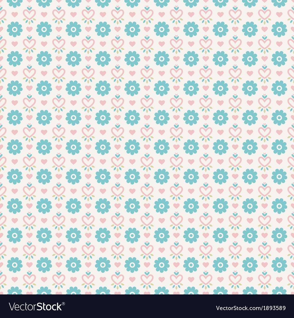 Pastel loving wedding seamless pattern tiling Vector Image