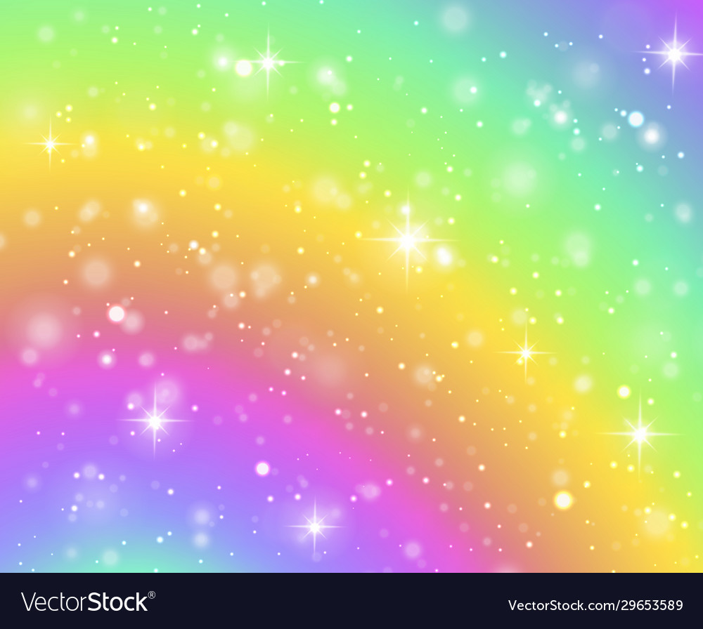 Rainbow background fantasy unicorn galaxy fairy