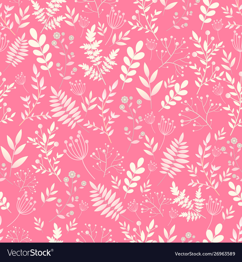 Romantic seamless pattern naive flower vector