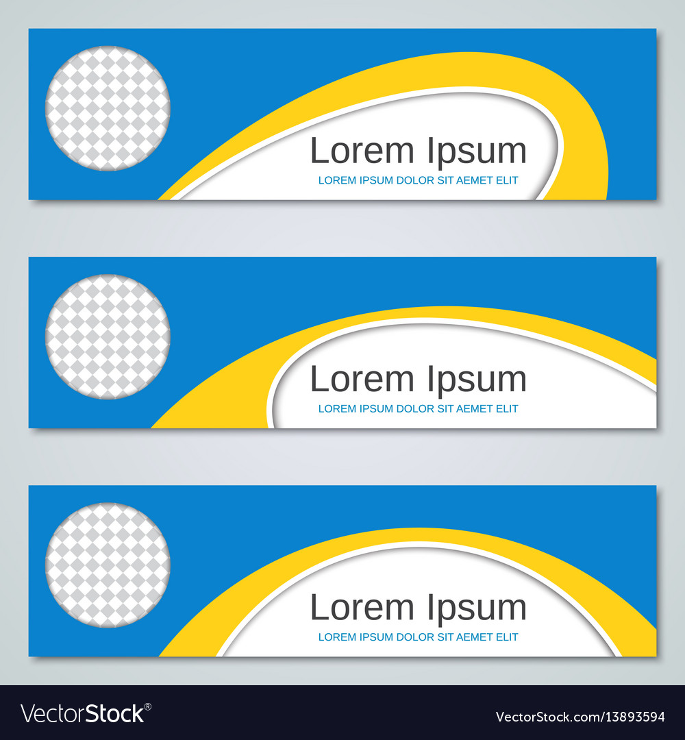 abstract yellow blue banners templates royalty free vector