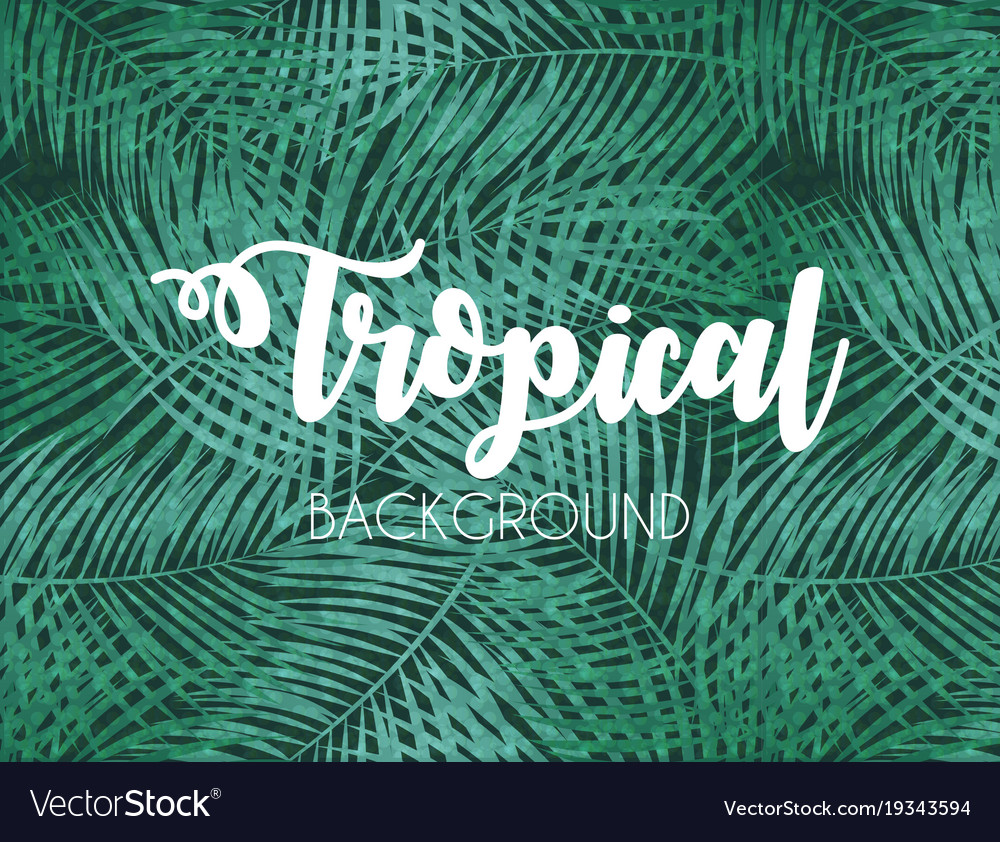 Colorful naturalistic tropical background from the