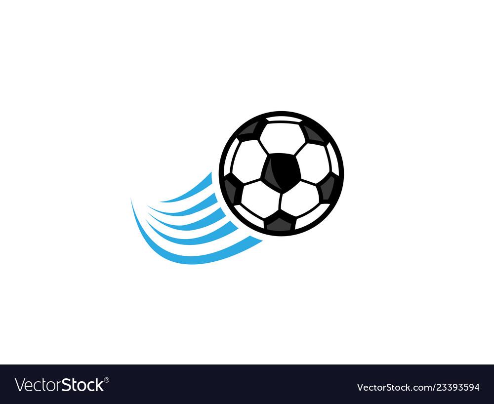 Football swoosh logo