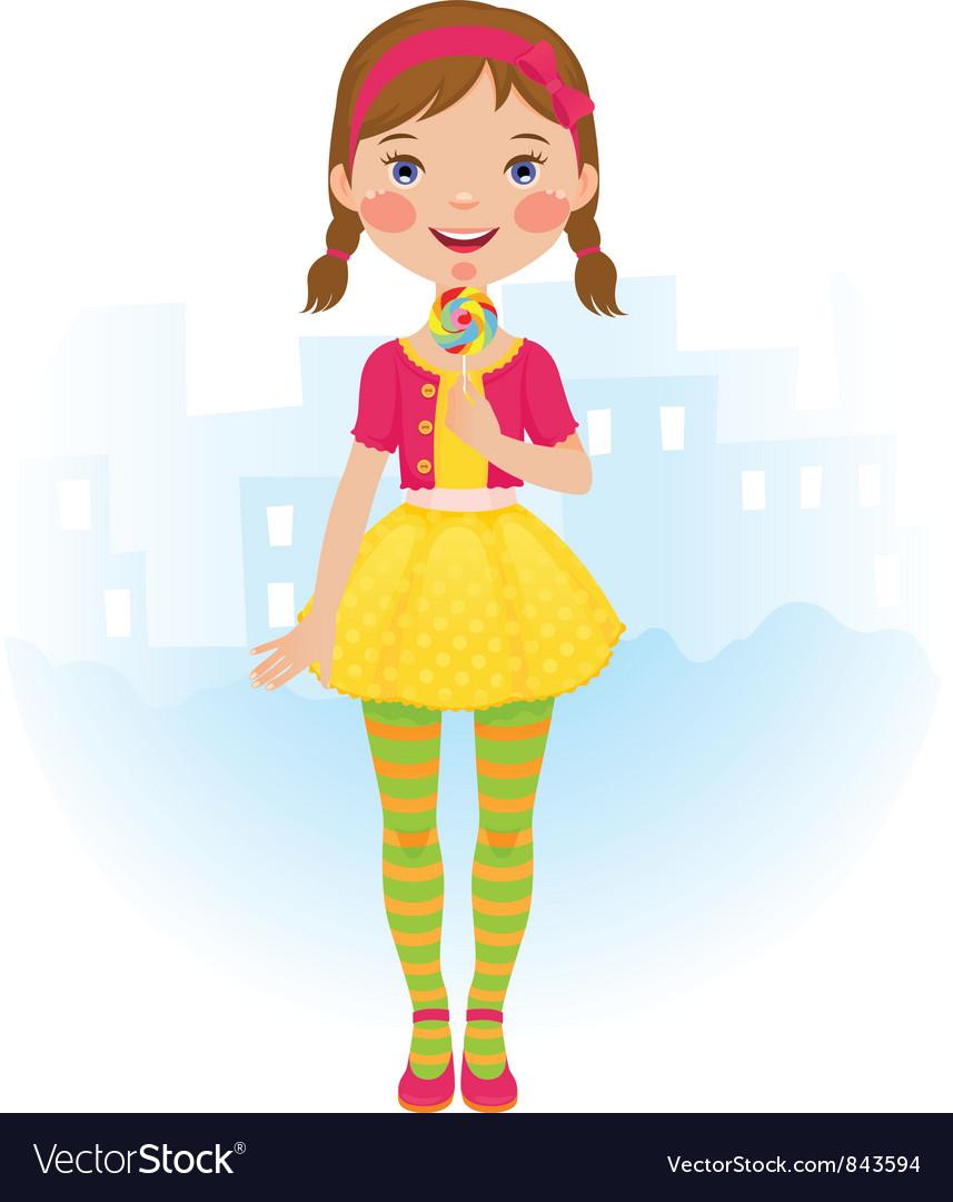 Девочка конфетка открытка