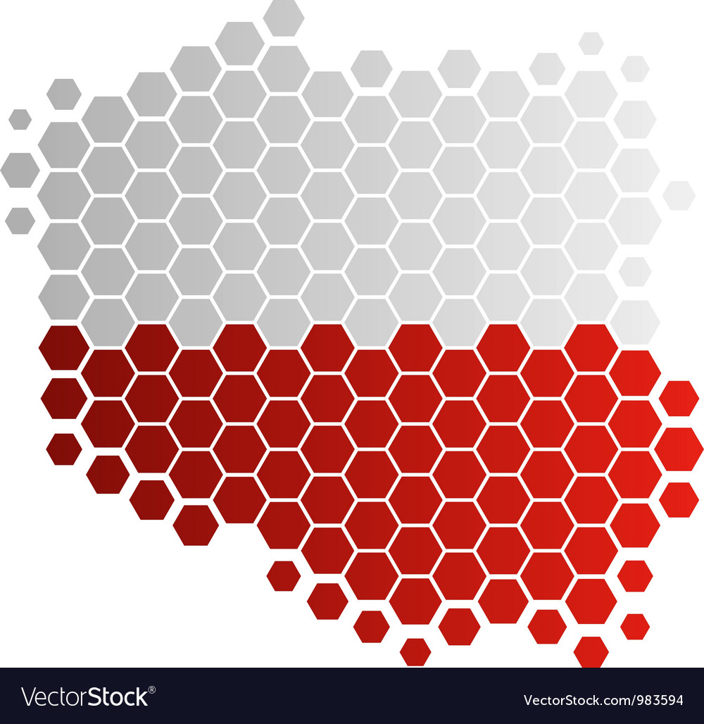 Map and flag of Poland Royalty Free Vector Image
