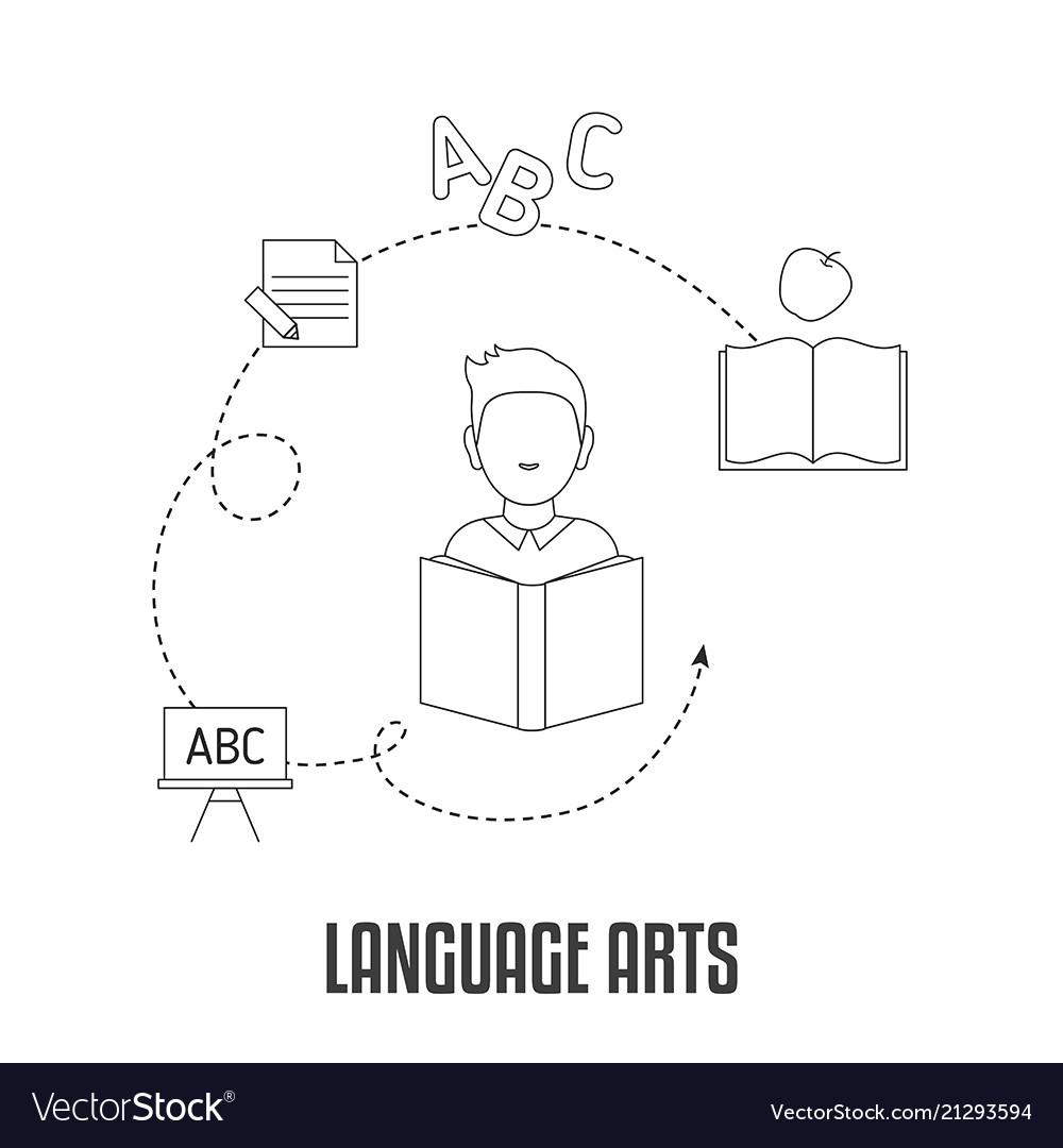 School subjects design concept school subjects