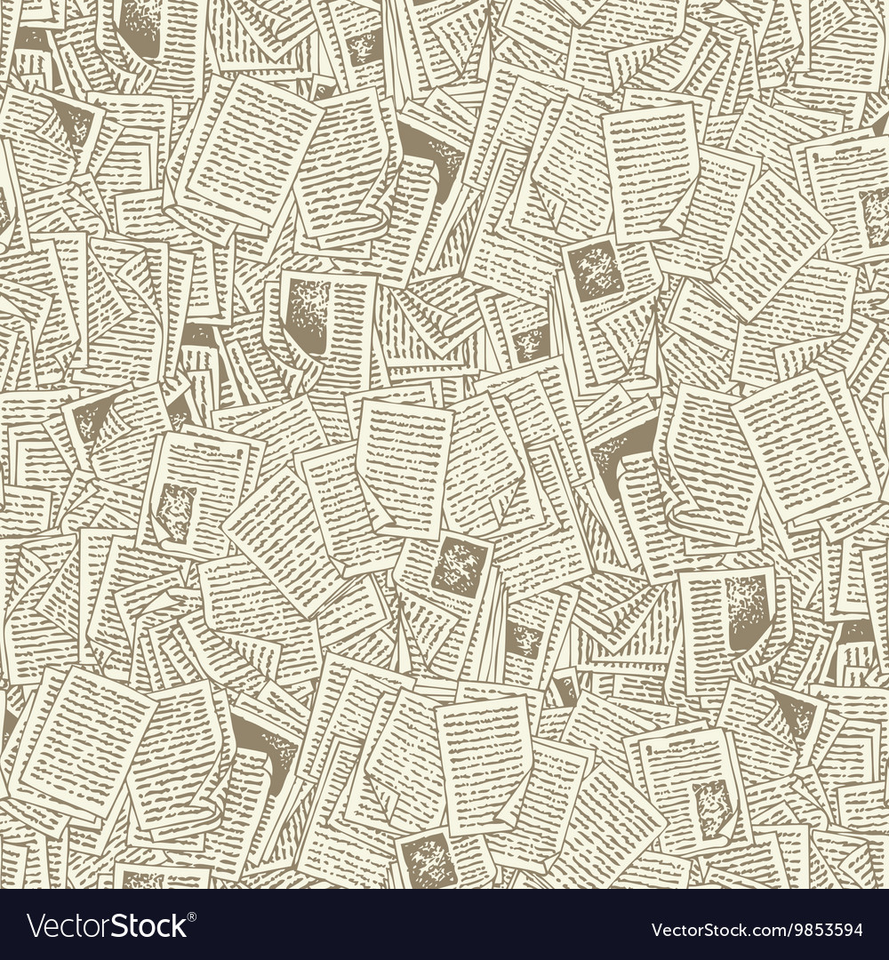 Seamless Pattern with Book Pages