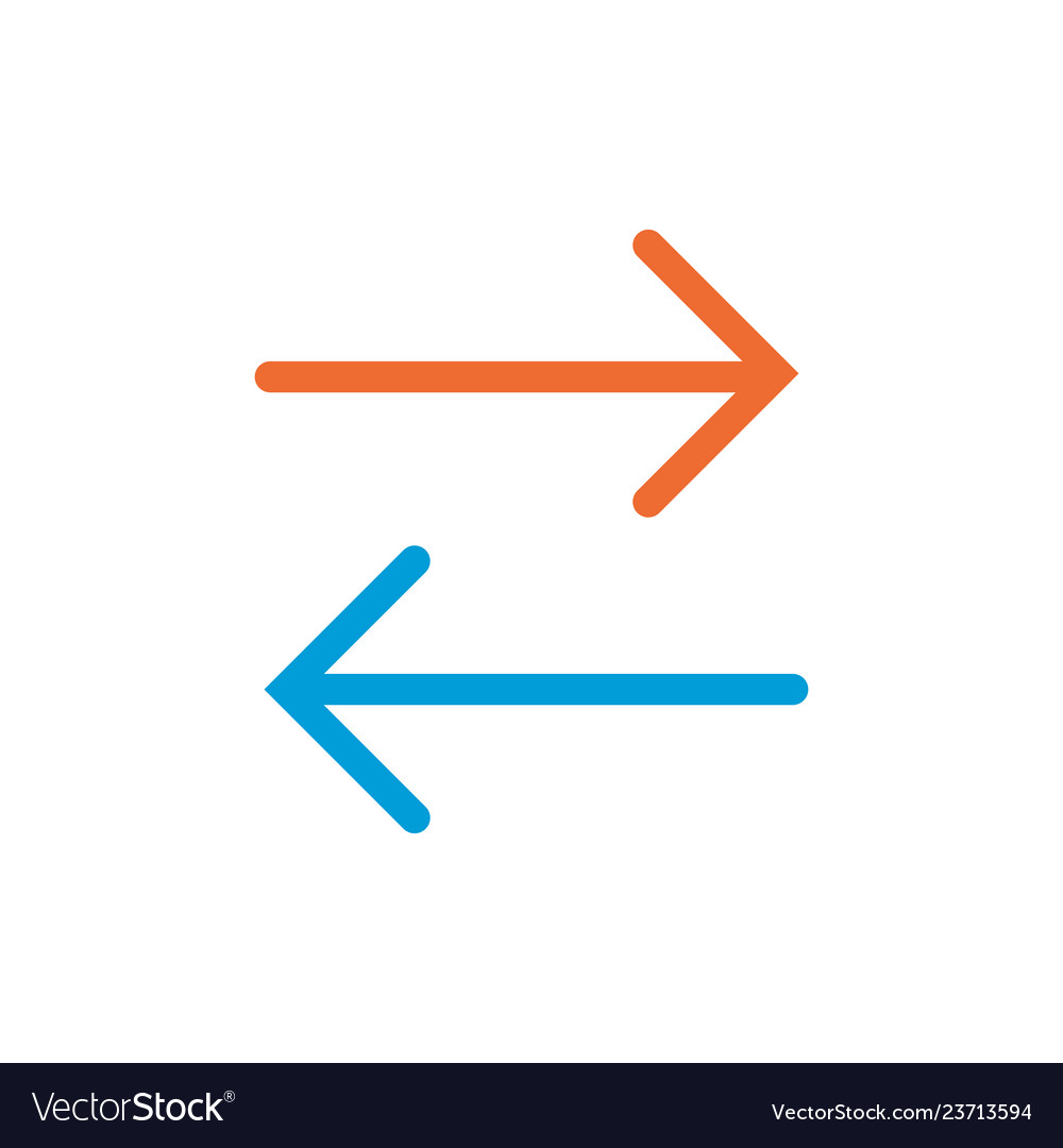 Two ways linear icon two ways concept symbol